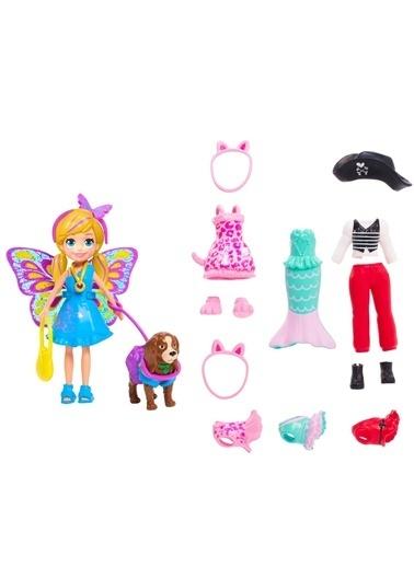 Polly Pocket Polly Pocket ve Hayvan Dostu Kostüm Giyiyor Oyun Seti Renkli